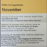 Kultur- und Veranstaltungsprogramm November 2015 - Teil 1
