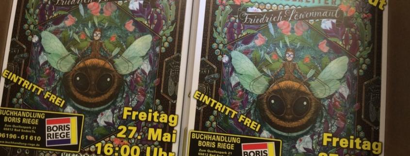 Flyer Lesung Veranstaltung Hummelreiter Verena Reinhardt 27.05.2016 16 Uhr