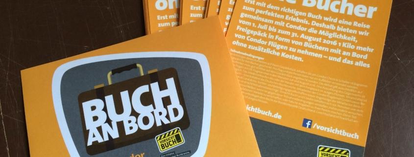 Aufkleber Buch an Bord Aktion Condor Vorsicht Buch