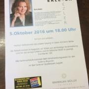 Doris Bezler liest beim Maximilian Müller Friseure Bad Soden