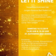 LET IT SHINE Flyer